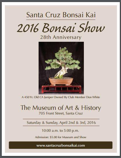 Santa Cruz 2016 Bonsai Show Marin Bonsai Club